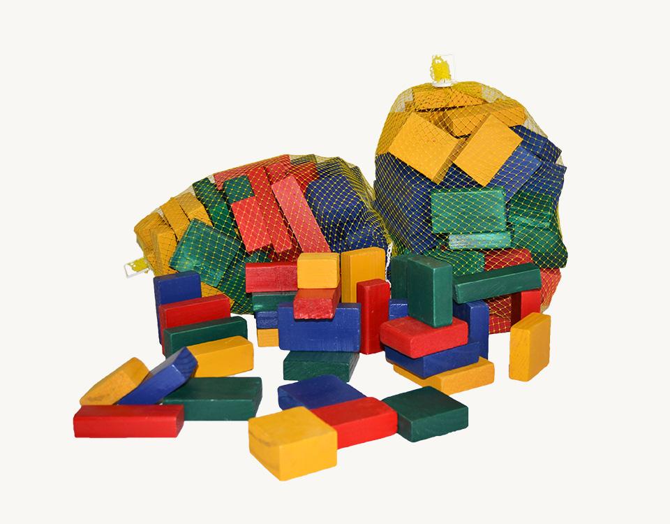 Bag of Coloured Play Blocks