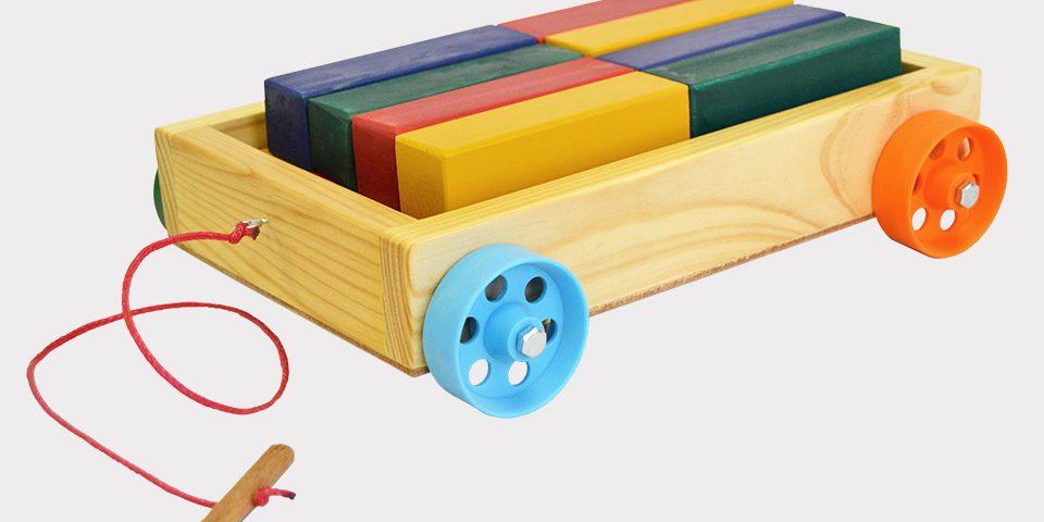 Pullcart and Coloured Blocks